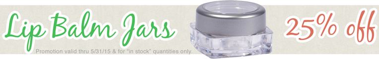 Get 25% OFF Our Lip Balm Jars