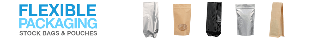 Flexible Packaging Now Available. Our high-quality flexible products are available in a variety of styles, sizes, and color options including foil, white, natural, silver, and black. These are a great alternative to rigid packaging and offer consumer convenience with resealable options. Shop Now!