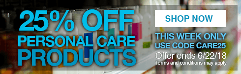 Save 25% on our entire personal care industry category through the rest of the week! With over 450 items, there's something for every product line. Use code CARE25 and start shopping now! Offer ends 6/22/18.
