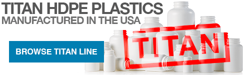 The Titan brand is synonymous with quality in large scale pharmaceutical and nutraceutical companies around the world. All of the items in our Titan line are manufactured in the USA and warehoused in northern New Jersey. A Certificate of Compliance is available upon request.