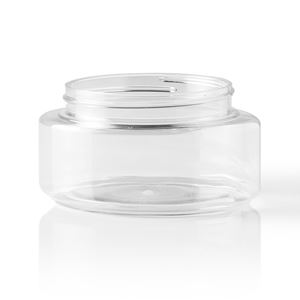 Picture of 6 oz Oval Clear PET Plastic Jar
