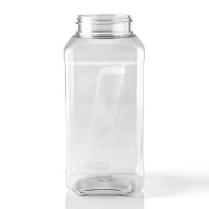 Picture of 32 oz Square Clear PET Plastic Spice Jar