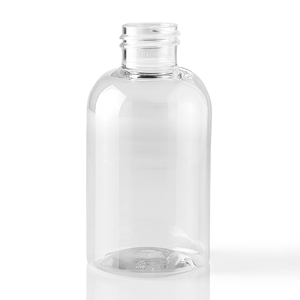Picture of 4 oz Boston Round Clear PET Plastic Bottle