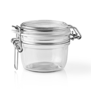 Picture of 125 ml Clear Glass Round Latch Top Jar