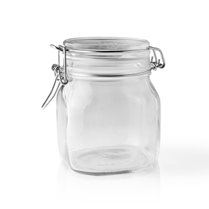 Picture of 750 ml Clear Glass Square Latch Top Jar