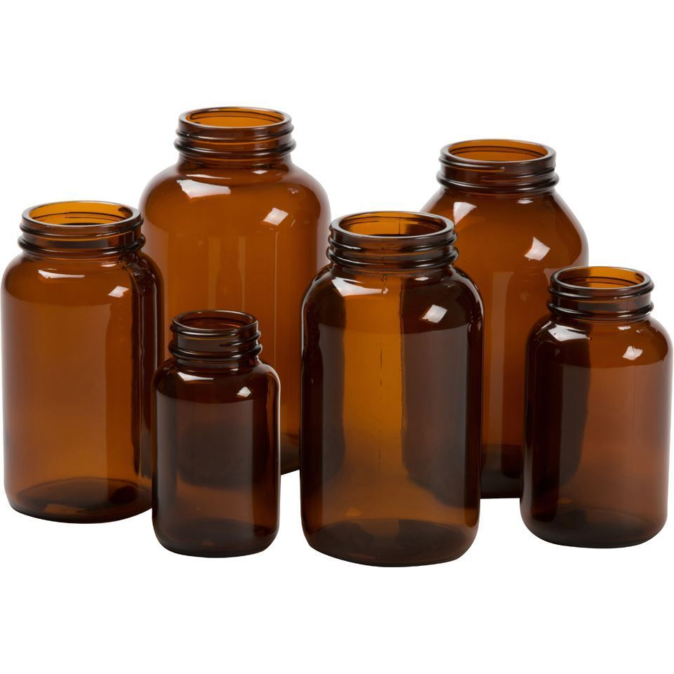 100 Cc Round Amber Glass Packer Packaging Options Direct