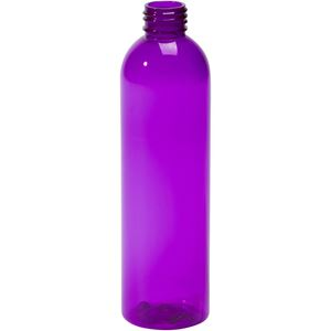 Picture of 8 oz Purple PET Plastic Bullet Round Bottle