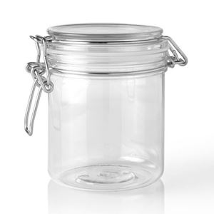 Picture of 500 ml PET Clear Plastic Latch Top Round Jar