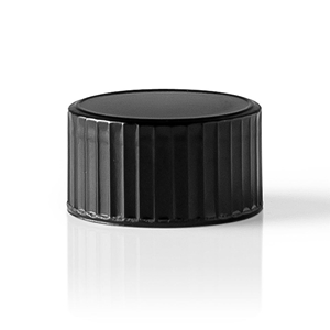 18-400 Round Phenolic Black Continuous Thread Closure - Side View