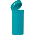 13 dram Round P/P Aqua Vial  - Side View Open
