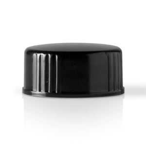 Picture of 24-400 Round Phenolic Black Continuous Thread Closure