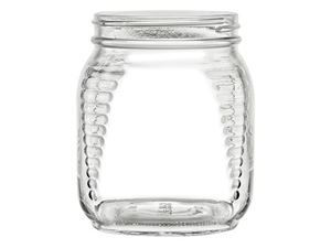Picture of 30.5 oz Square Glass Refrigerator Jar