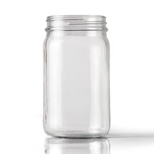 Picture of 8 oz Round Clear Glass Economy Jar WHOLESALE
