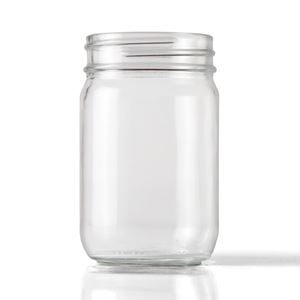 Picture of 12 oz Round Clear Glass Economy Jar WHOLESALE