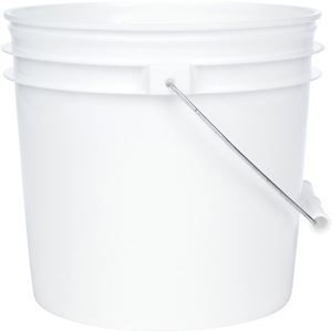 Picture of 3.5 gal HDPE Pail, 90 mil Round, White
