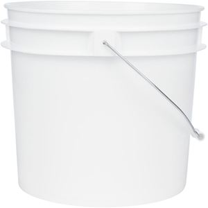 Picture of 1 Gallon White HDPE Round Pail