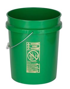 Picture of 5 gal HDPE Pail, 90 mil Round, Green