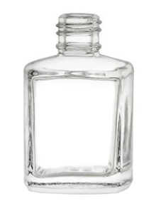 Picture of 15 ml Clear Glass Straight Sided Square - 13-415 Neck Finish