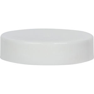45-400 Continuous Thread Lined White Plastic Closure - Smooth - Front View