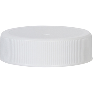 38-400 Continuous Thread Lined White P/P Plastic Closure - Front View