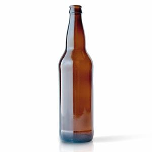 22 oz Amber Glass Round Beer Bottle