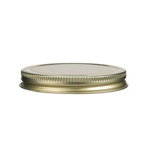 70-400 Continuous Thread Lined Gold Metal Closure