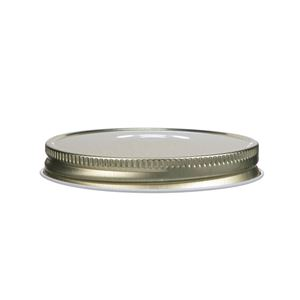 70-400 Continuous Thread Lined Gold/White Metal Closure
