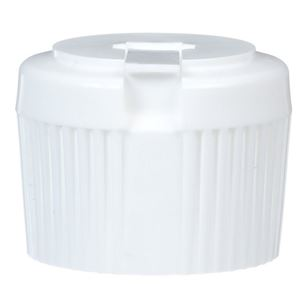 28-410 Flip Spout Dispensing Unlined White LLDPE Plastic Closure