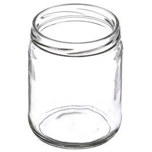 16 oz Wide Mouth Round Clear Glass Jar - Angled View