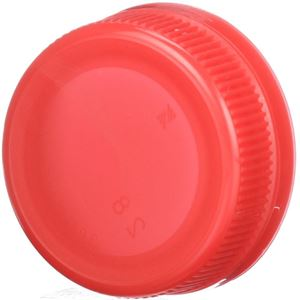 38mm Special Tamper Evident Red P/P Plastic Closure - Angled View
