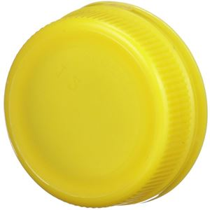 38 mm Special Tamper Evident Yellow P/P Plastic Closure - Angled View