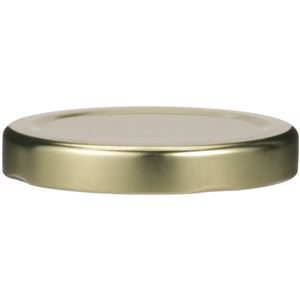 58-2020 Lug Lined Gold Metal Closure - Plastisol Liner - Front View
