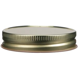 70-450 Continuous Thread LIned Gold/Buff Metal Closure - Plastisol Liner - Front View