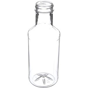 16 oz Clear PET Carafe/Decanter Round - 38-400 Neck Finish - Angled View
