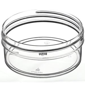 4 oz Round Clear P/S Plastic Jar  - Angled View