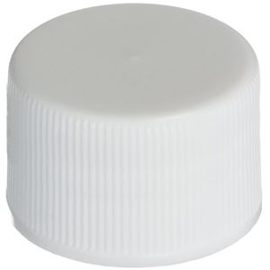 20-410 Continuous Thread Lined White P/P Plastic - F-217 Foam Liner - Front View