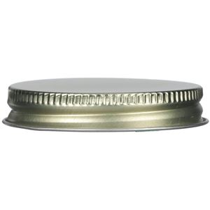 53-400 Continuous Thread Lined Gold/Gold Metal Closure - Plastisol Liner - Front View