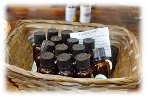 Finished Bottles of Essential Oils