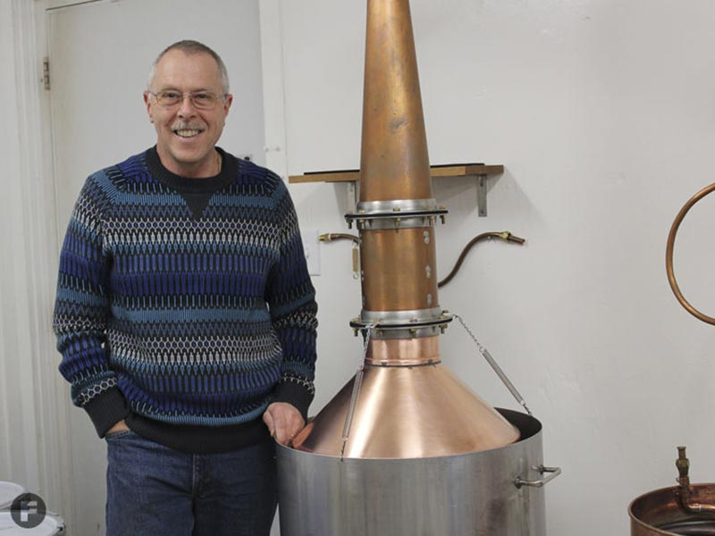 Martin and his copper still
