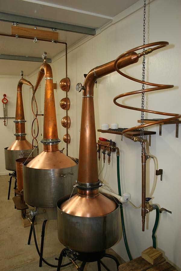 Three Copper Stills