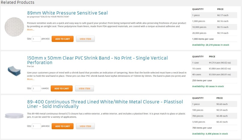 Related Product Section Screen Shot 2