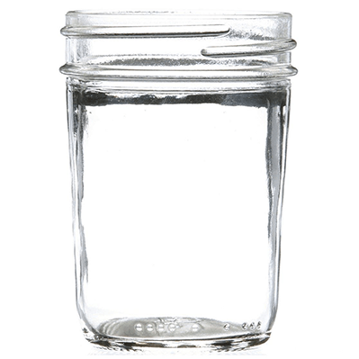8 oz Clear Glass Round Wide Mouth Jar