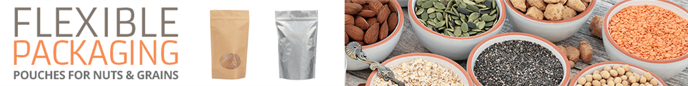 Keep your nut and grain products fresh for your customer with these resealable flexible packaging options.