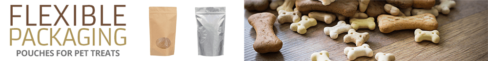 The resealable flexible packaging options below are ideal for your next line of tasty pet treats.