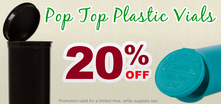 Get 20% OFF Pop Top Plastic Vials