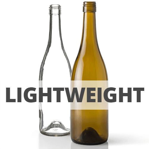 Shop Lightweight Burgundy Wine Bottles