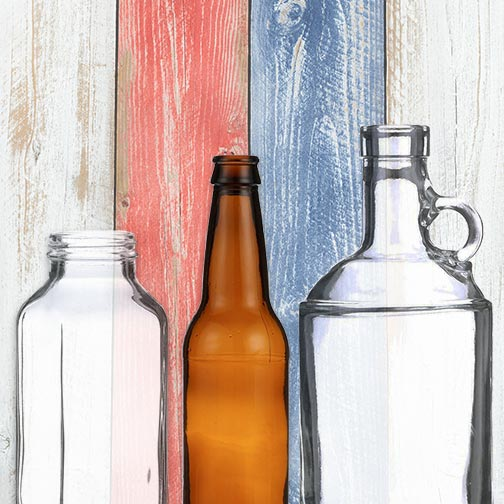 Made in America - Glass Bottles & Jars