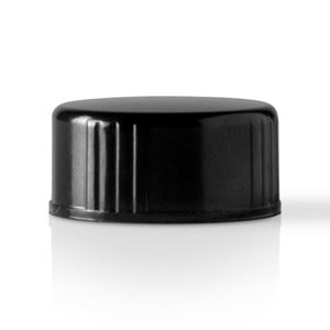 Picture of 22-400 Continuous Thread Lined Black Phenolic Closure - Polycone Liner
