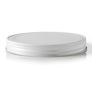 110-400 Continuous Thread Lined White Metal Closure