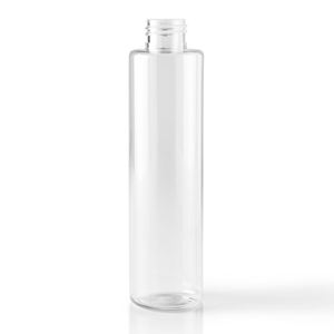 6 oz Cylinder Round Clear PET Plastic Bottle - Front View